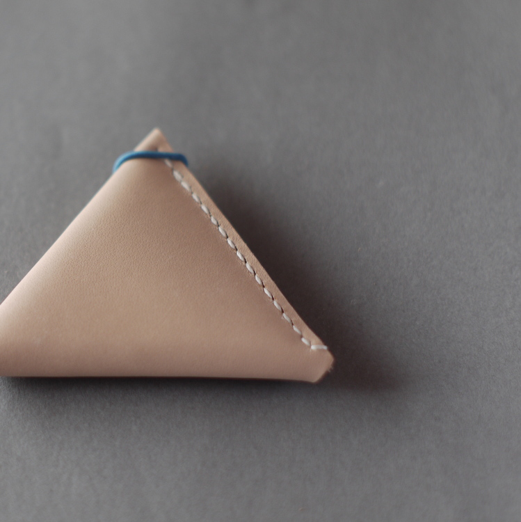 kumosha leather coin case triangle