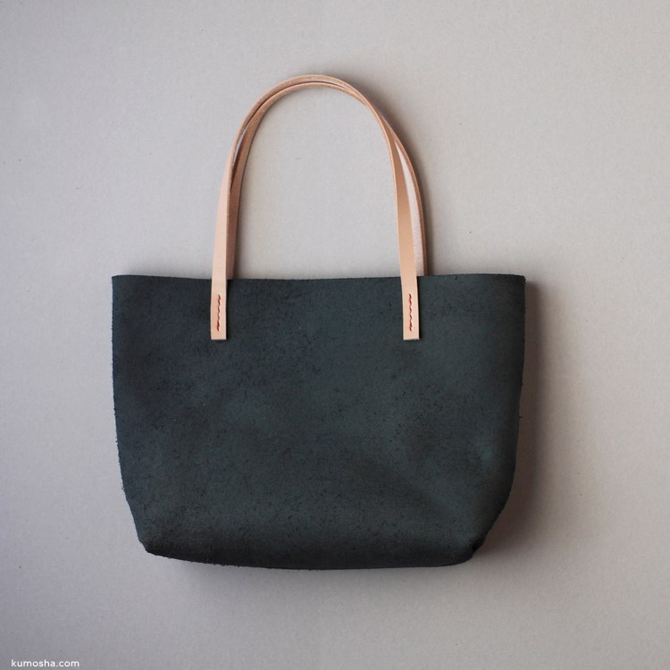 kumosha's Velour leather totebag tokunami