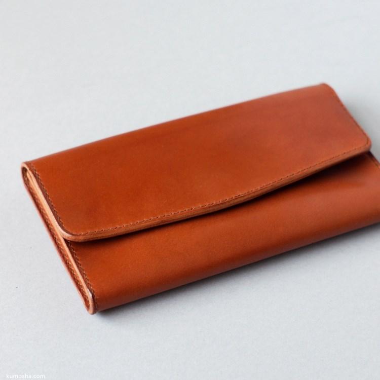 kumosha's handstitched leather pouch