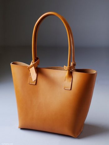 kumosha's hand stitched leather tote bag mini
