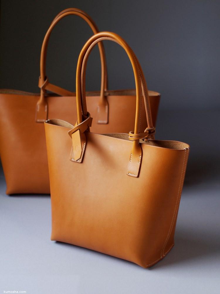 kumosha's hand stitched leather tote bag mini