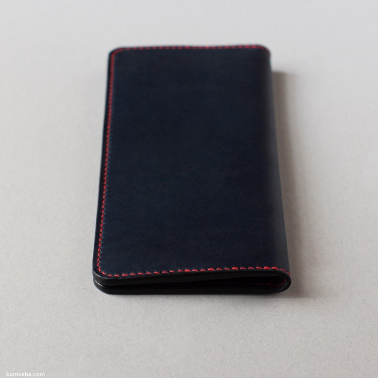 kumosha's full handstitched long wallet 01