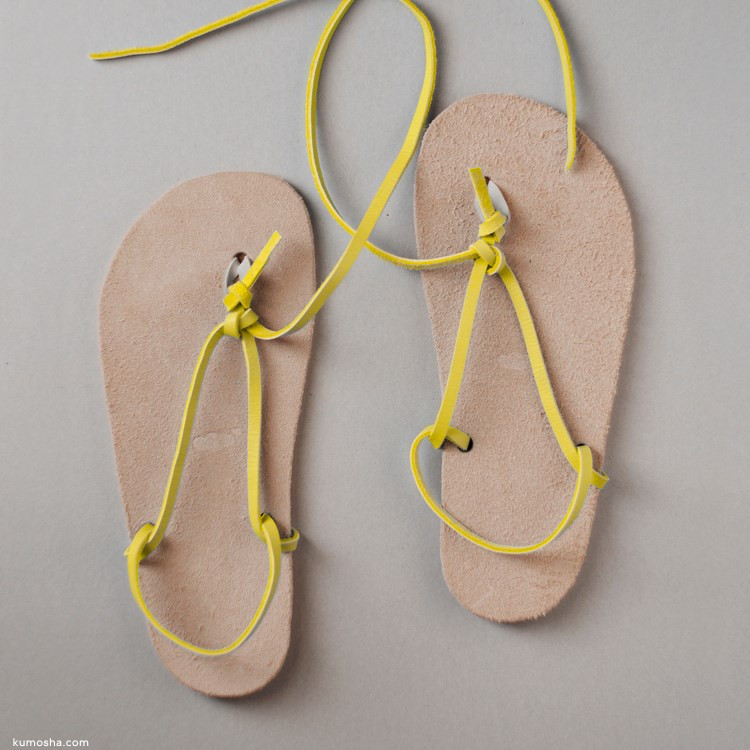 kumosha's walking sandal huarache3 lemon