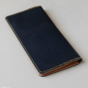 kumosha's hand stitched leather long wallet