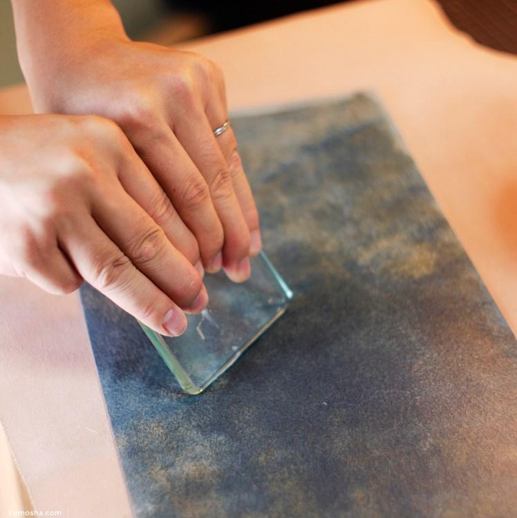 """kumosha's hand stitched leather note cover """"hobonichi weeks"""""""