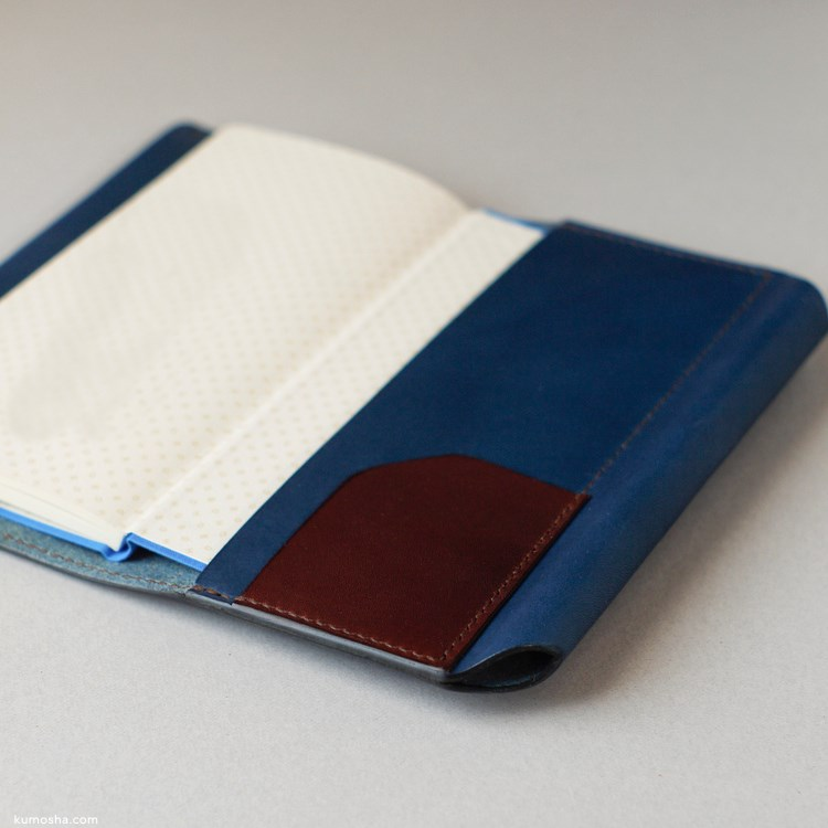kumosha's hand stitched leather note cover hobonichi weeks