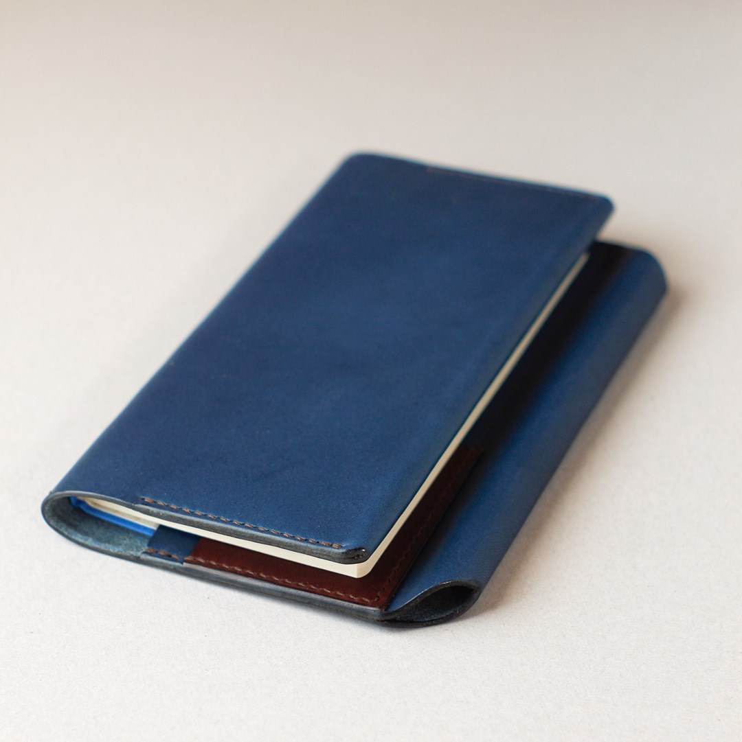 kumosha hand stitched leather note cover hobonichiweeks