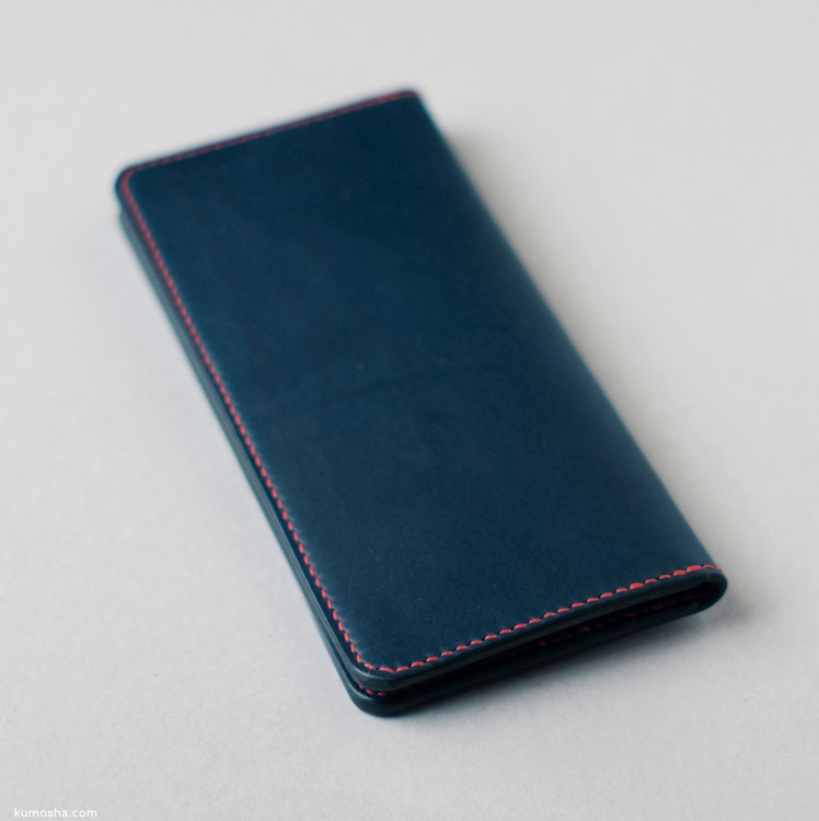 kumosha's hand stitched leather long wallet