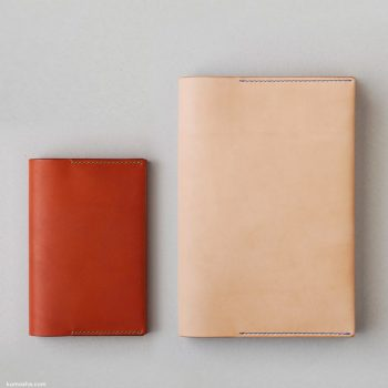 kumosha's hand stitched leather note cover