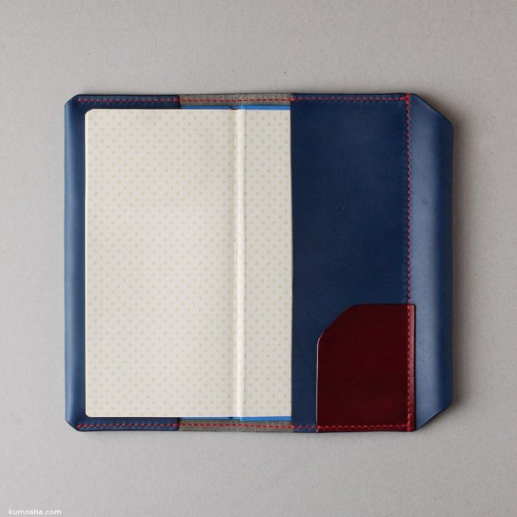 kumosha's hand stitched leather note cover hobonichi