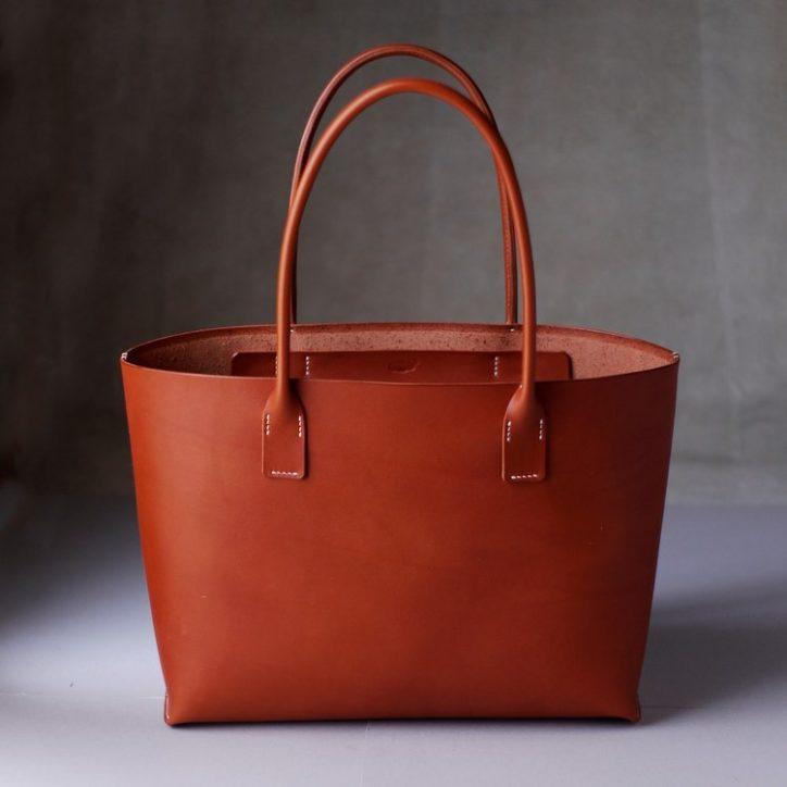 kumosha's hand stitched leather tote bag