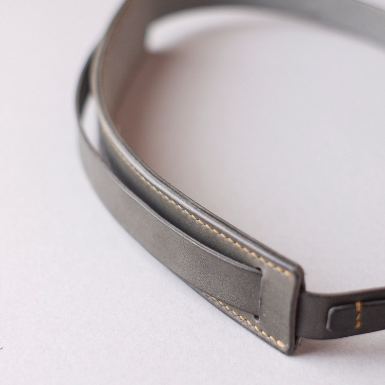 kumosha's hand stitched leather camera strap belt