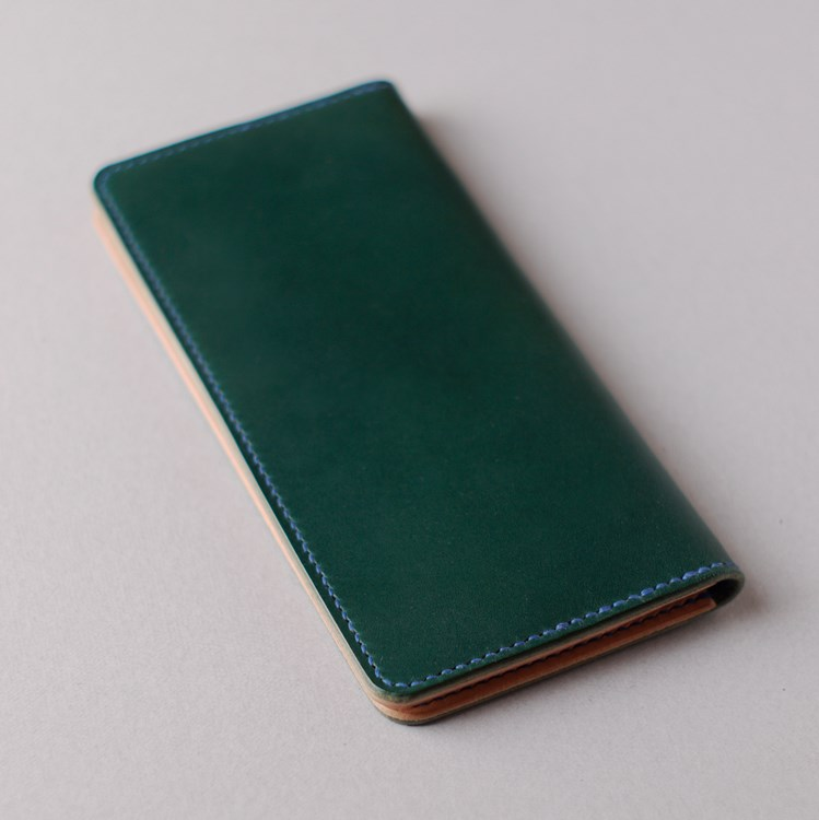 kumosha's full hand stitched leather long wallet