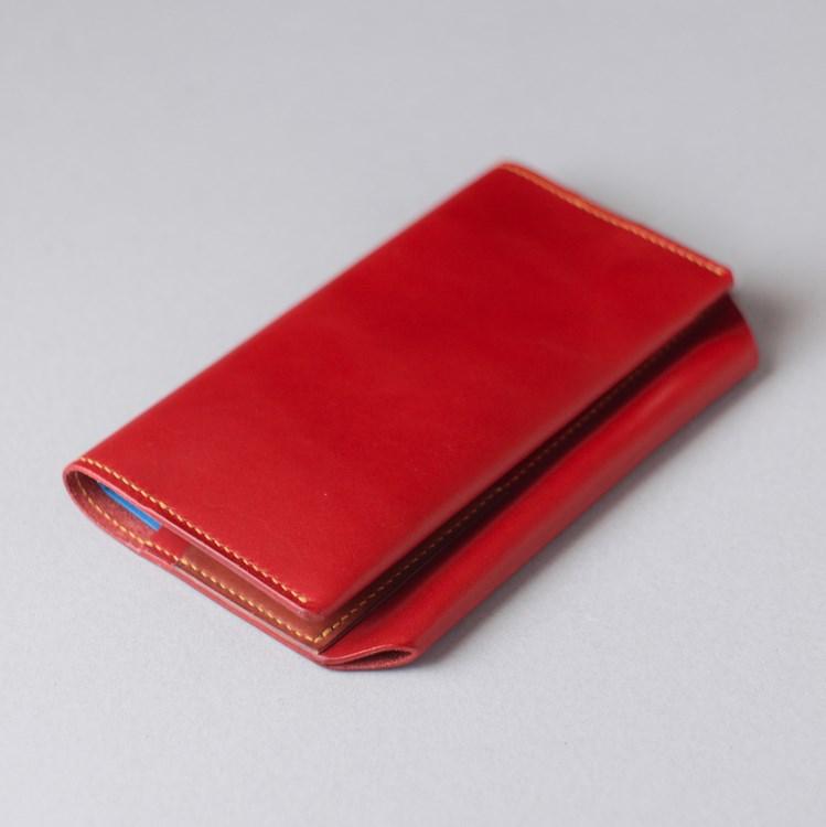 真っ赤なヌメ革のほぼ日手帳WEEKSカバーができました