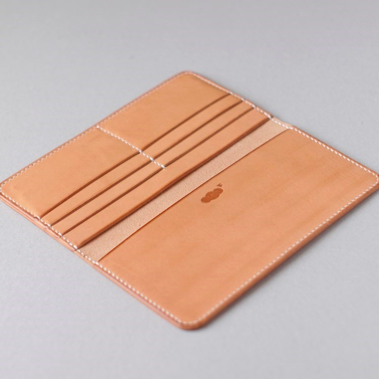 kumosha hand stitched leather long wallet 1