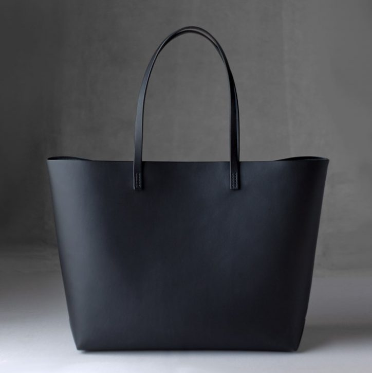 kumosha hand stitched leather tote bag A4+