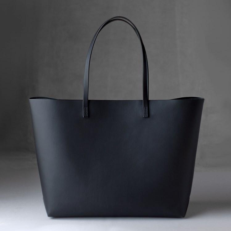 kumosha hand stitched leather tote bag A4+