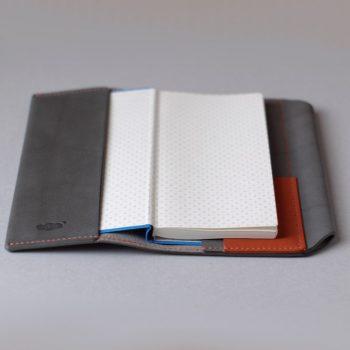 kumosha hand stitched leather hobonichi techo cover weeks