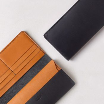 kumosha hand stitched leather long wallet 2