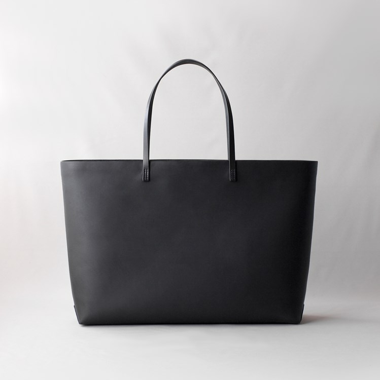 kumosha hand stitched leather tote bag A3+