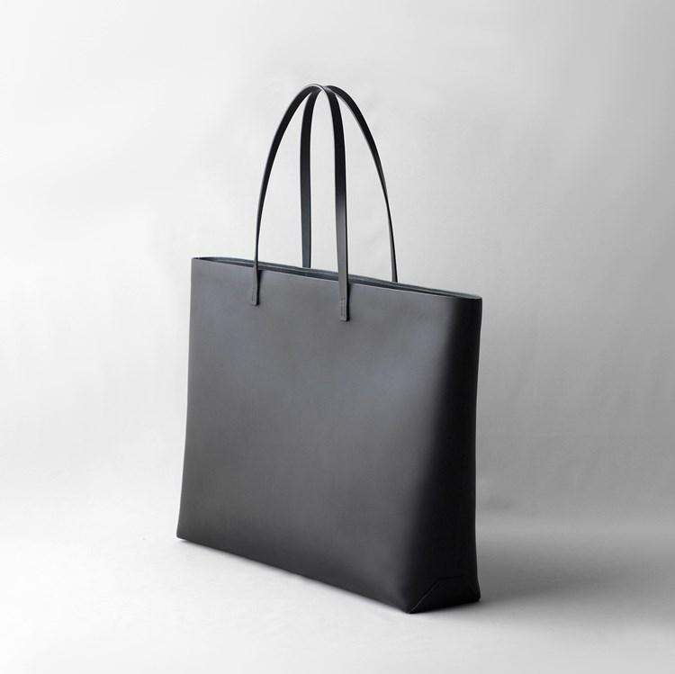 kumosha hand stitched leather tote bag A3+