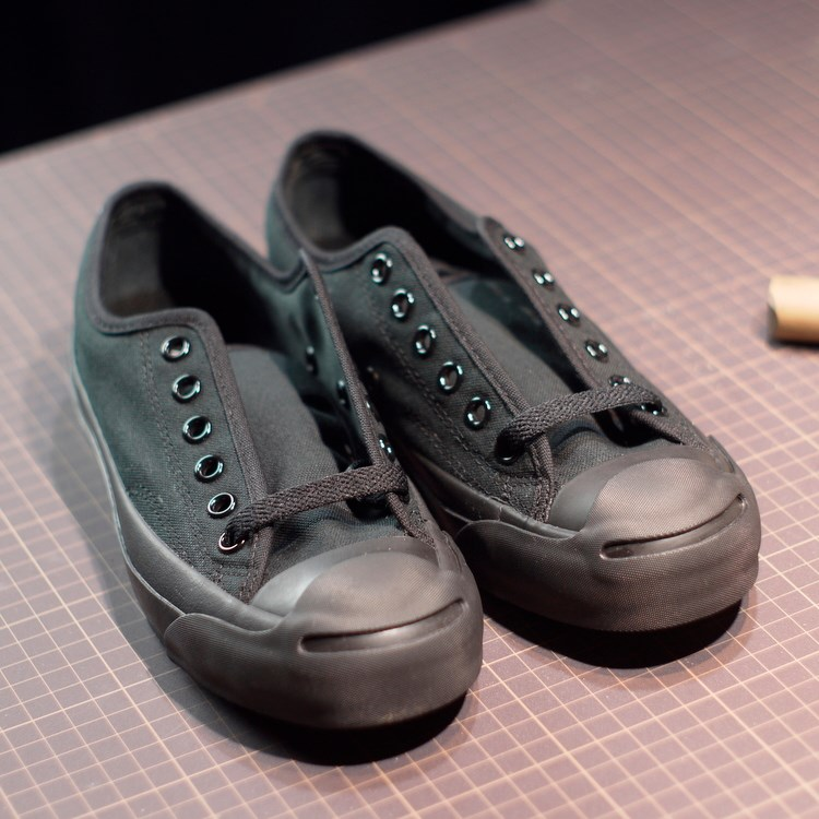 kumosha Jack Purcell black Leather Custom DIY