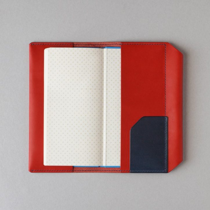 kumosha hand stitched leather Hobonichi Weeks cover