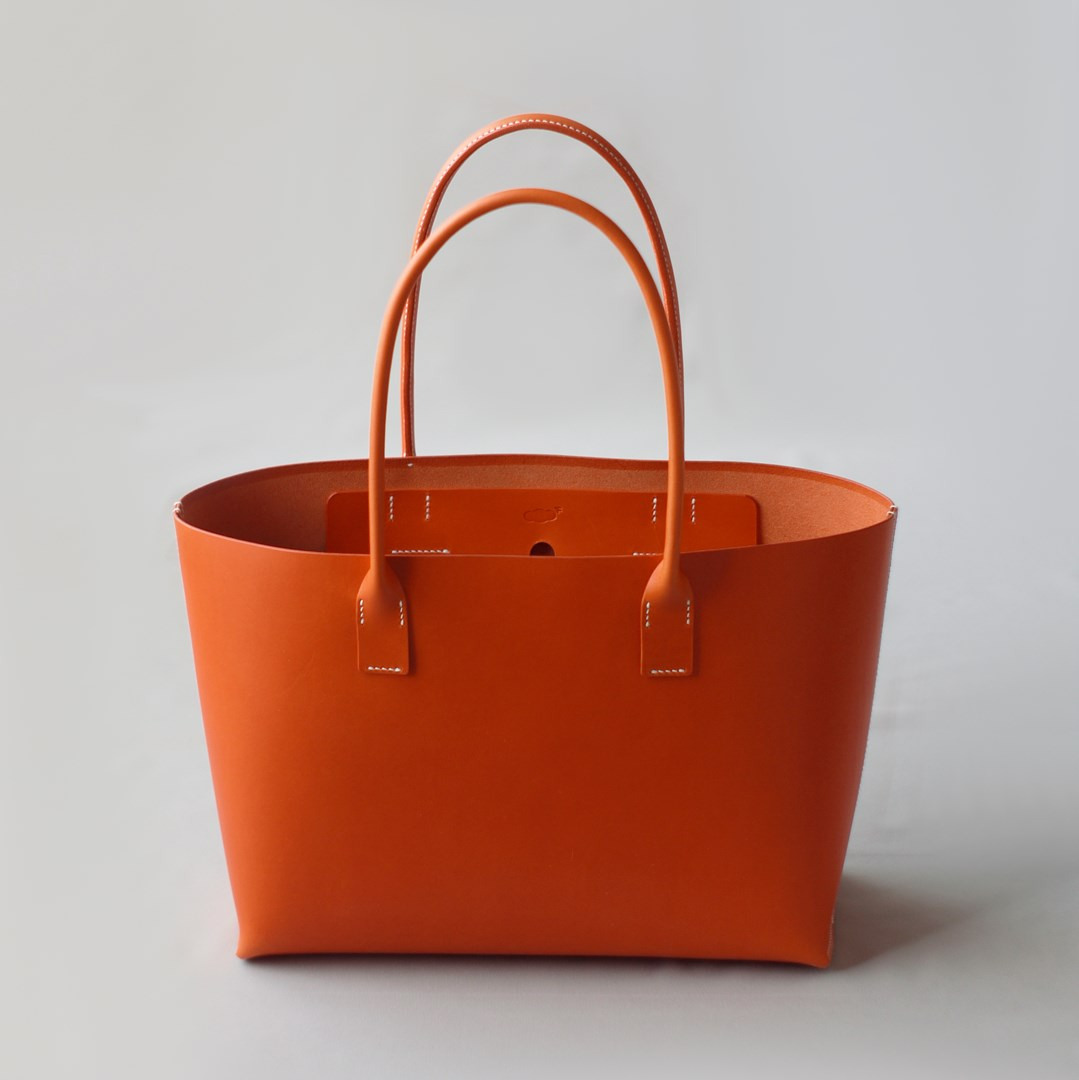 kumosha hand stitched leather tote bag