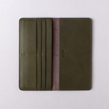 kumosha hand stitched leather long wallet