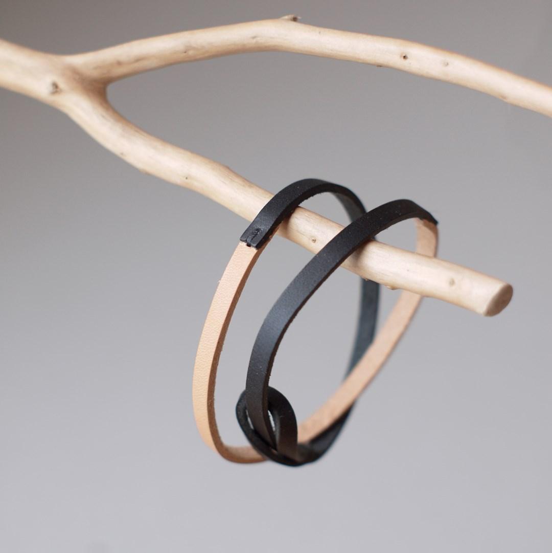 kumosha 2 strand leather bracelet