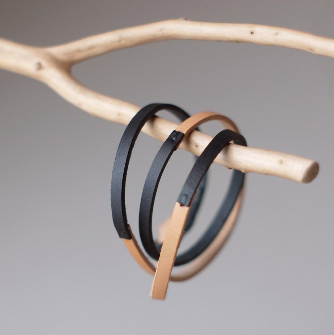 kumosha 3 strand leather bracelet
