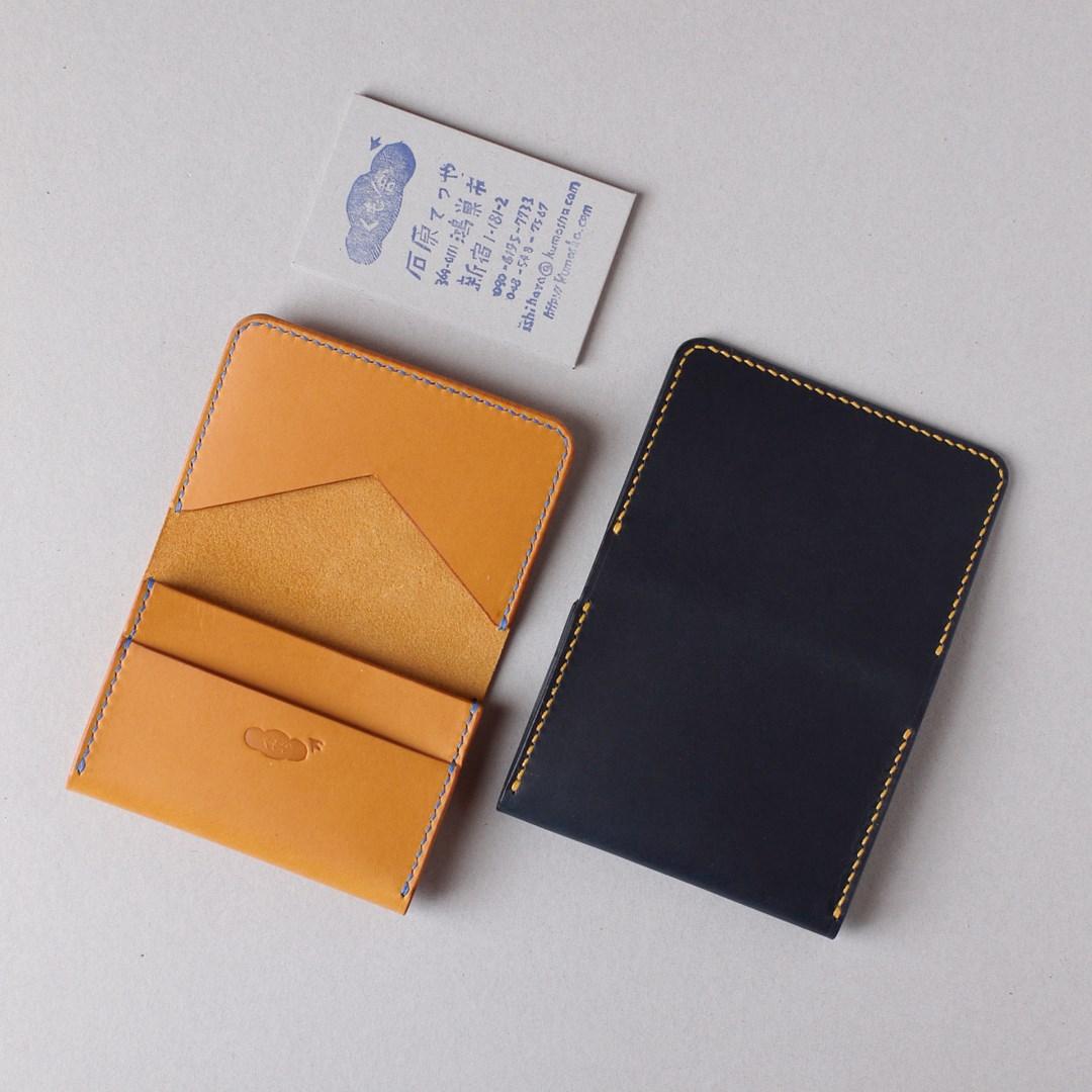 kumosha hand stitched leather card case type 03