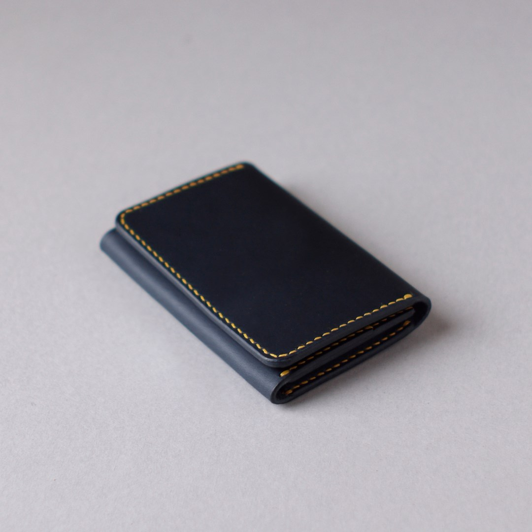 kumosha hand stitched leather card case type 03