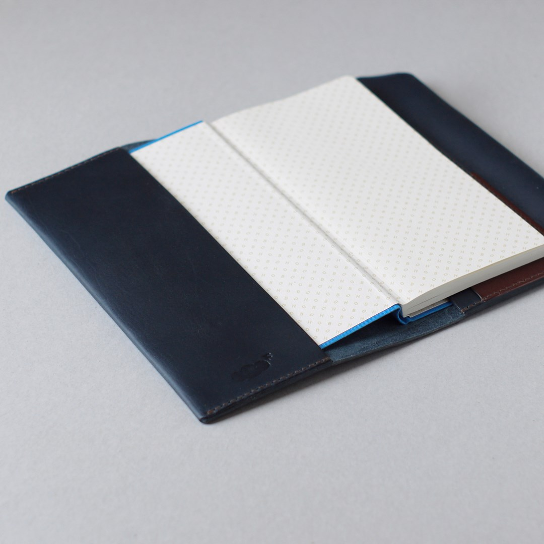 kumosha hand stitched leather note cover Hobonichi Weeks
