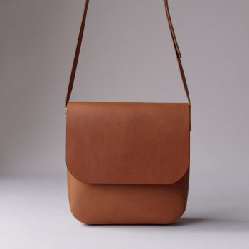 kumosha hand stitched leather bag Peter's bag