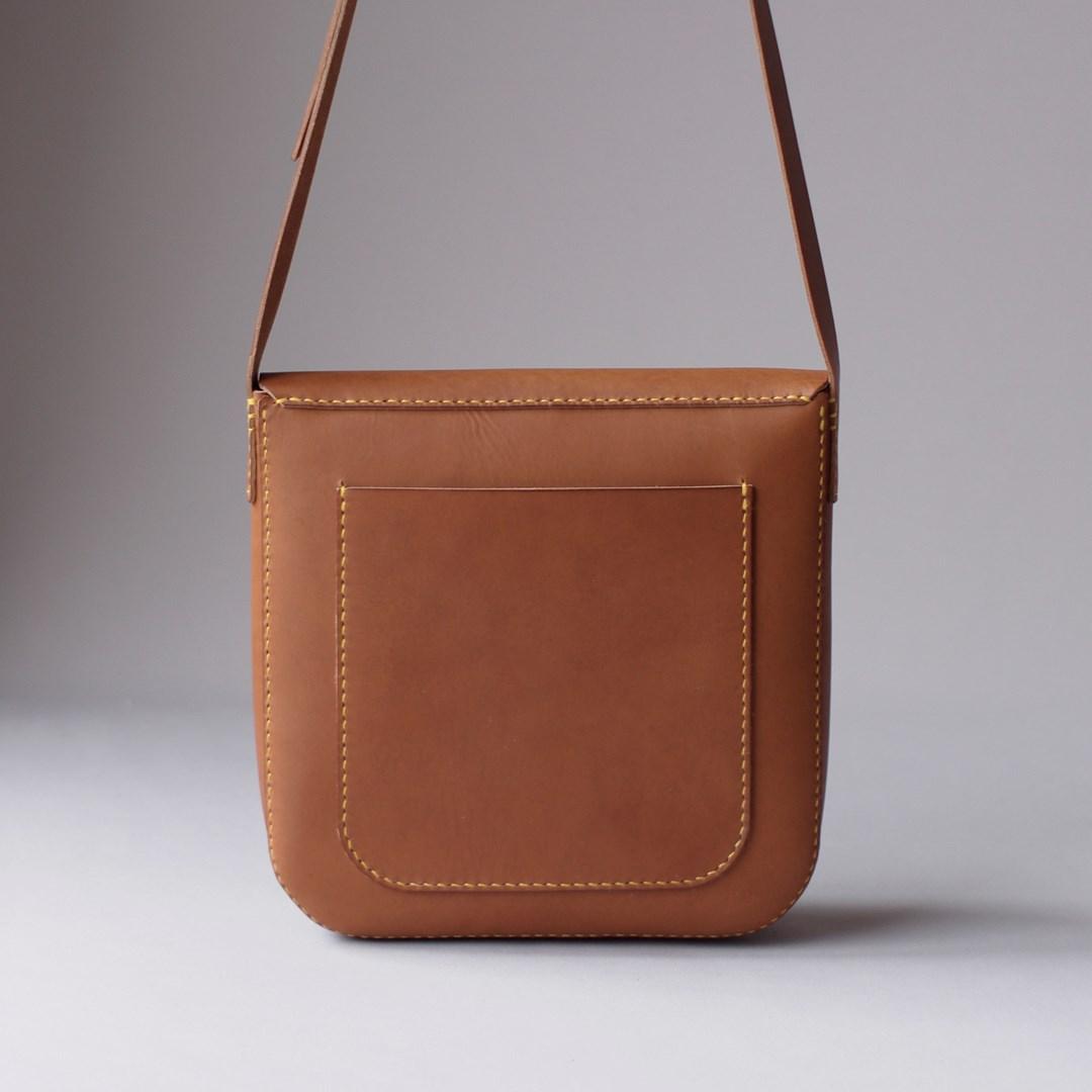 kumosha hand stitched leather bag Peter's bag