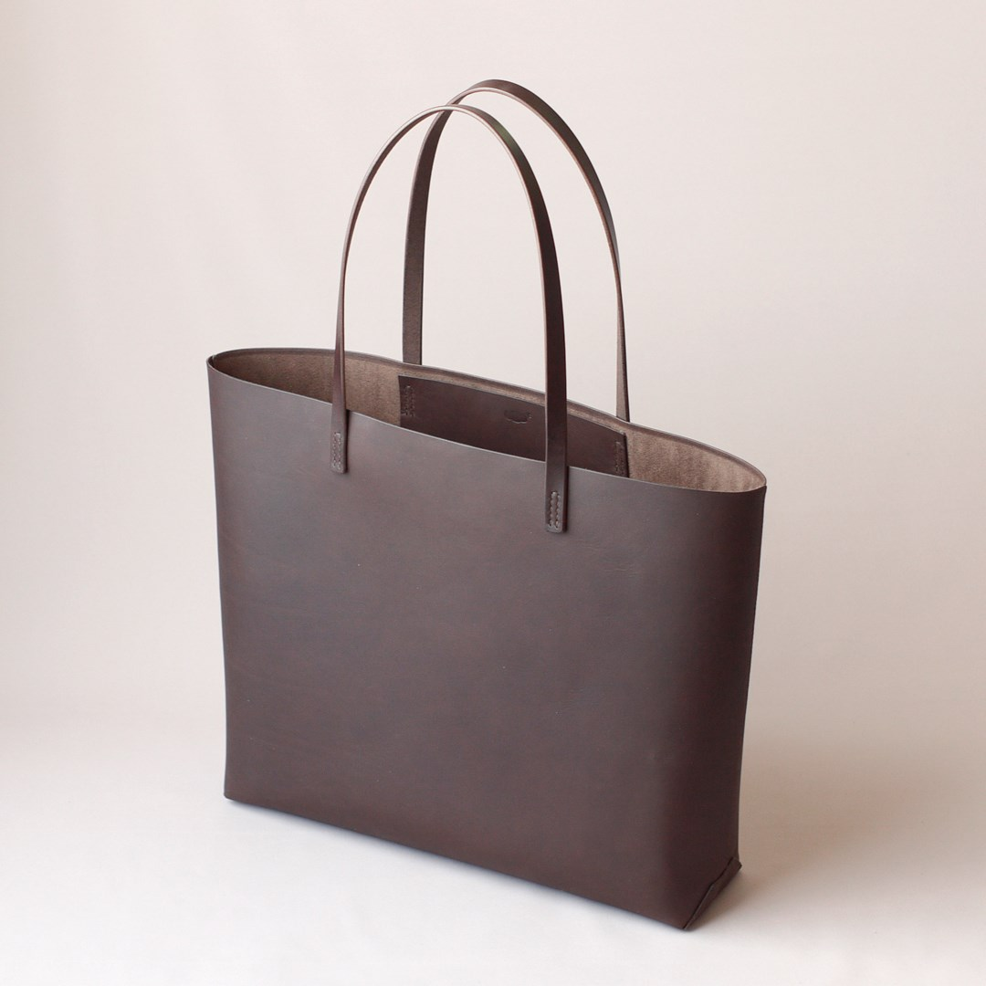 kumosha hand stitched leather tote bag soft A4+
