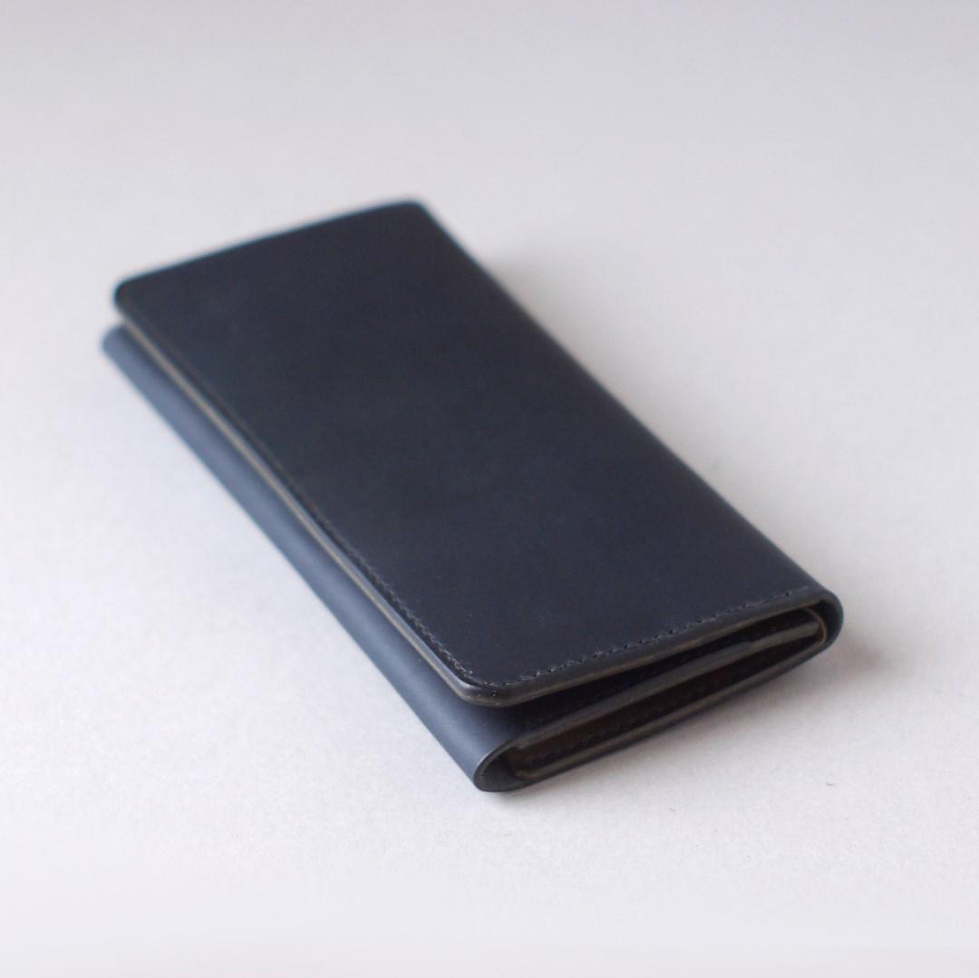 kumosha hand stitched leather long wallet type2
