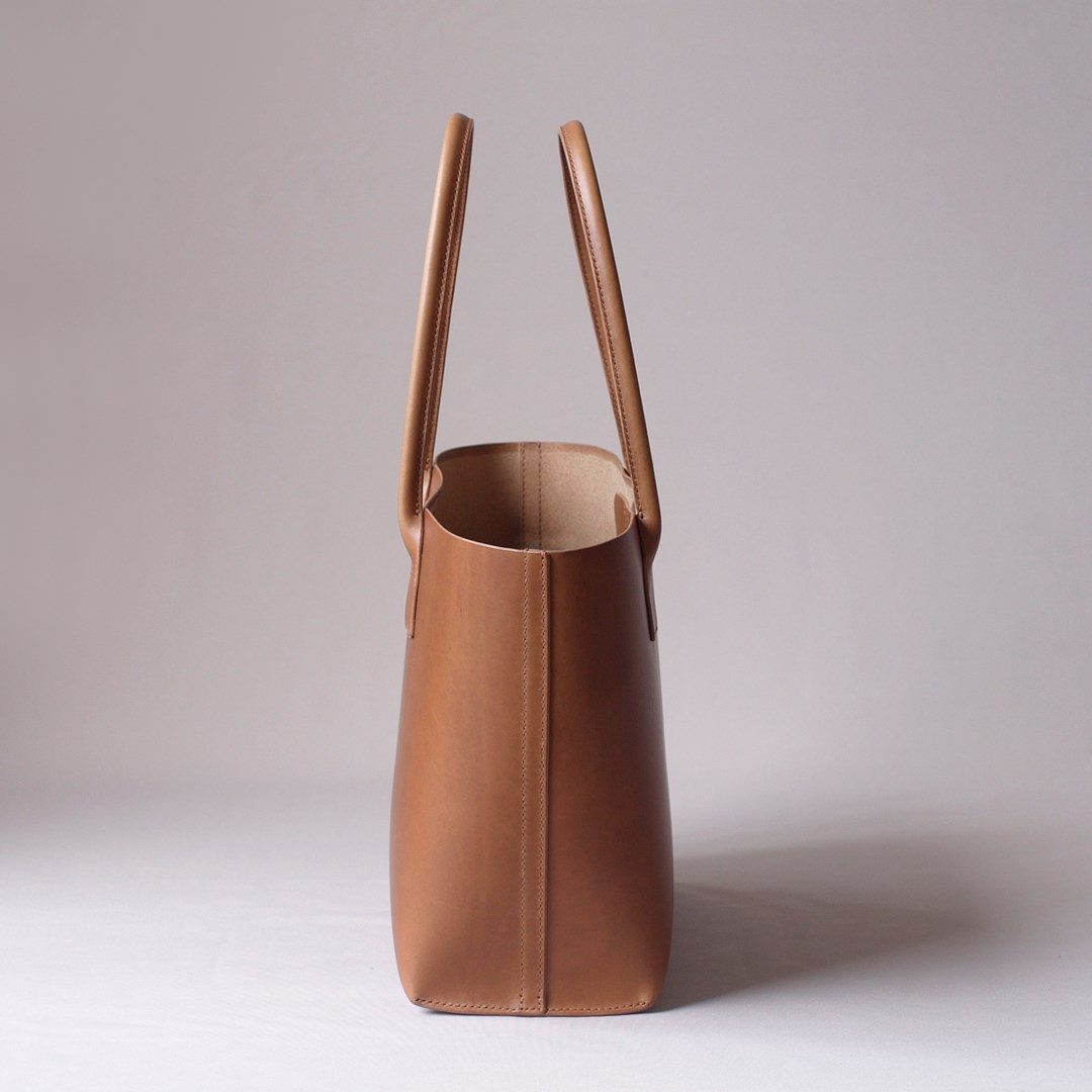 kumosha hand stitched leather tote bag type2