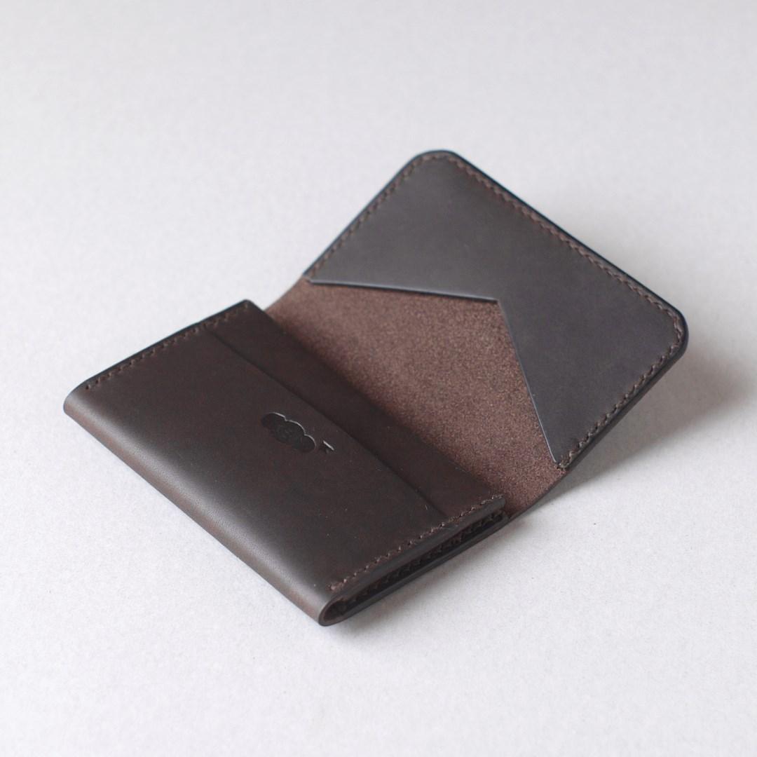 kumosha hand stitched leather cardcase