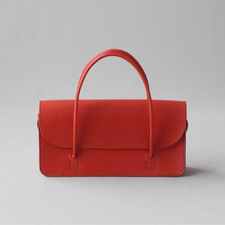 kumosha hand stitched leather handbag mimi-tsuki