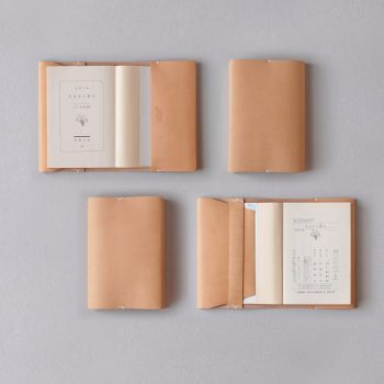 kumosha hand stitched leather book cover type 01