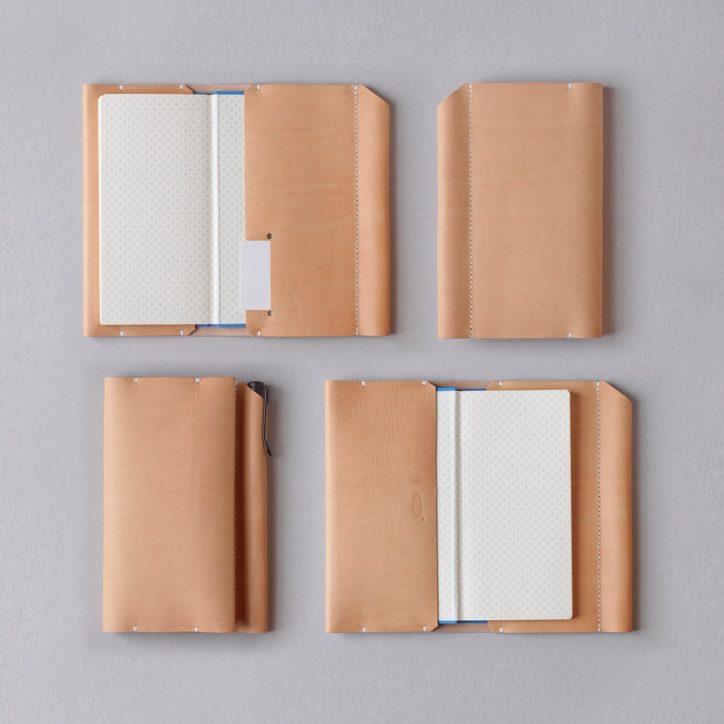 kumosha hand stitched leather hobonichi weeks cover type 01
