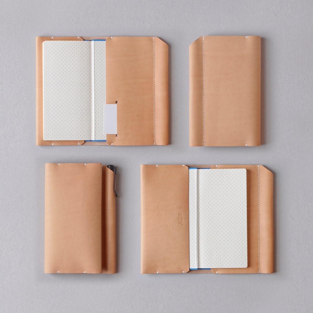 kumosha hand stitched leather hobonichi weeks cover type 01