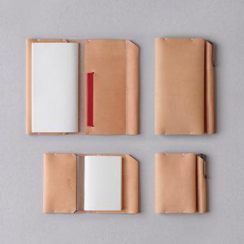 kumosha hand stitched leather travelers notebook cover type 01