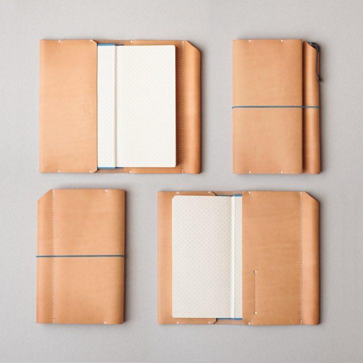 kumosha hand stitched leather note book cover hobonichi weeks
