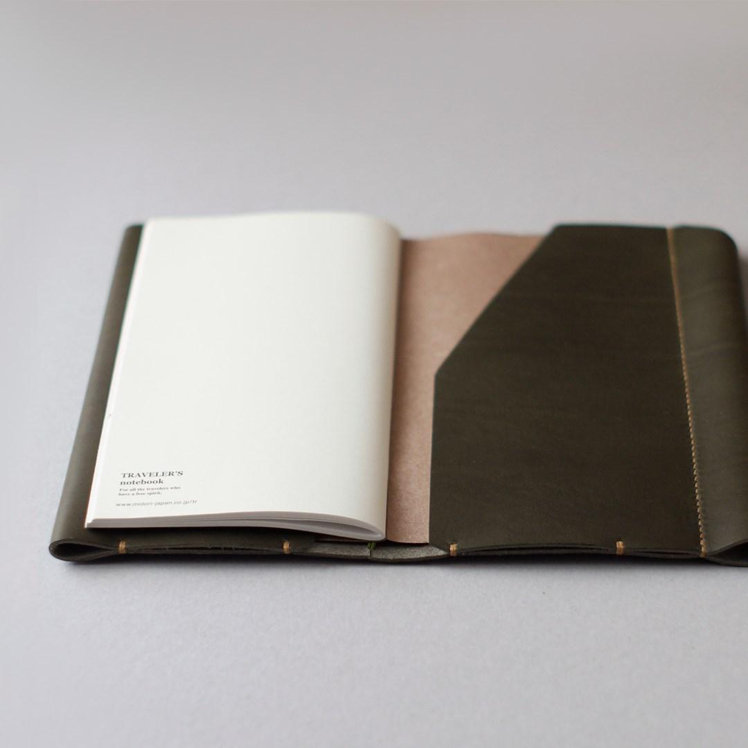 kumosha hand stitched leather travelars note book cover case type 01