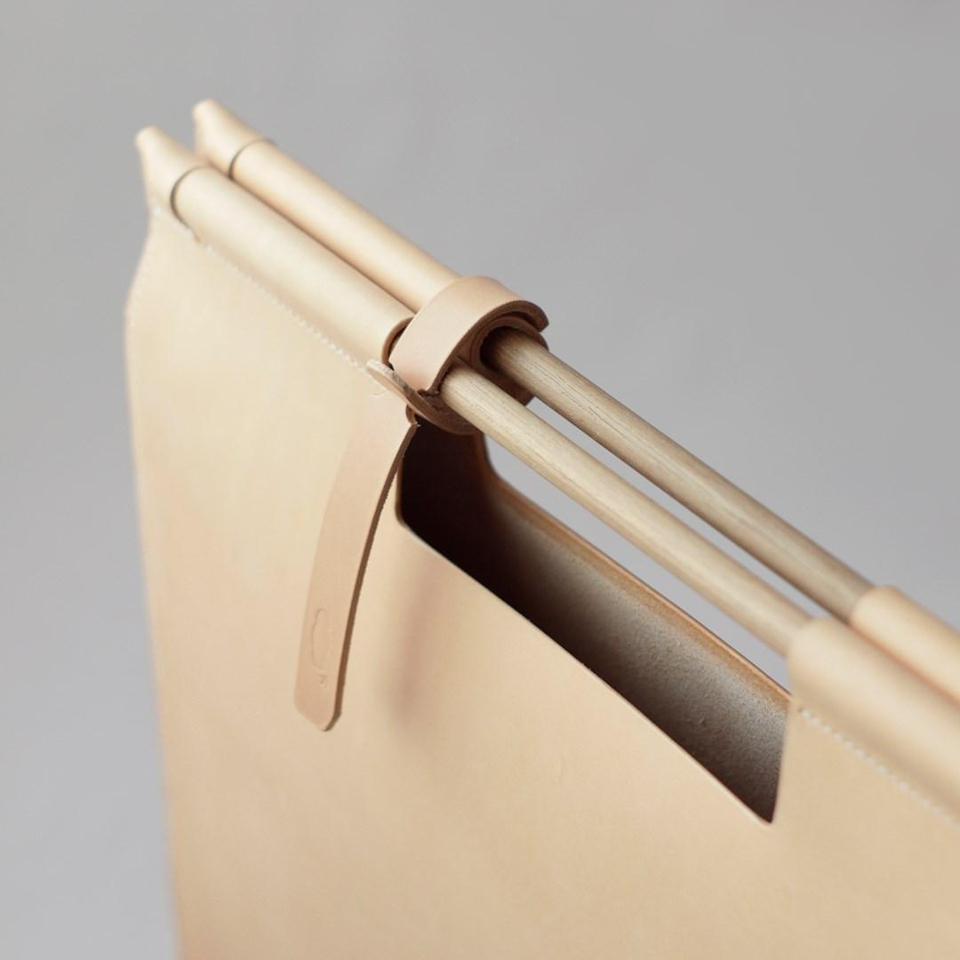 kumosha hand stitched leather document bag A3