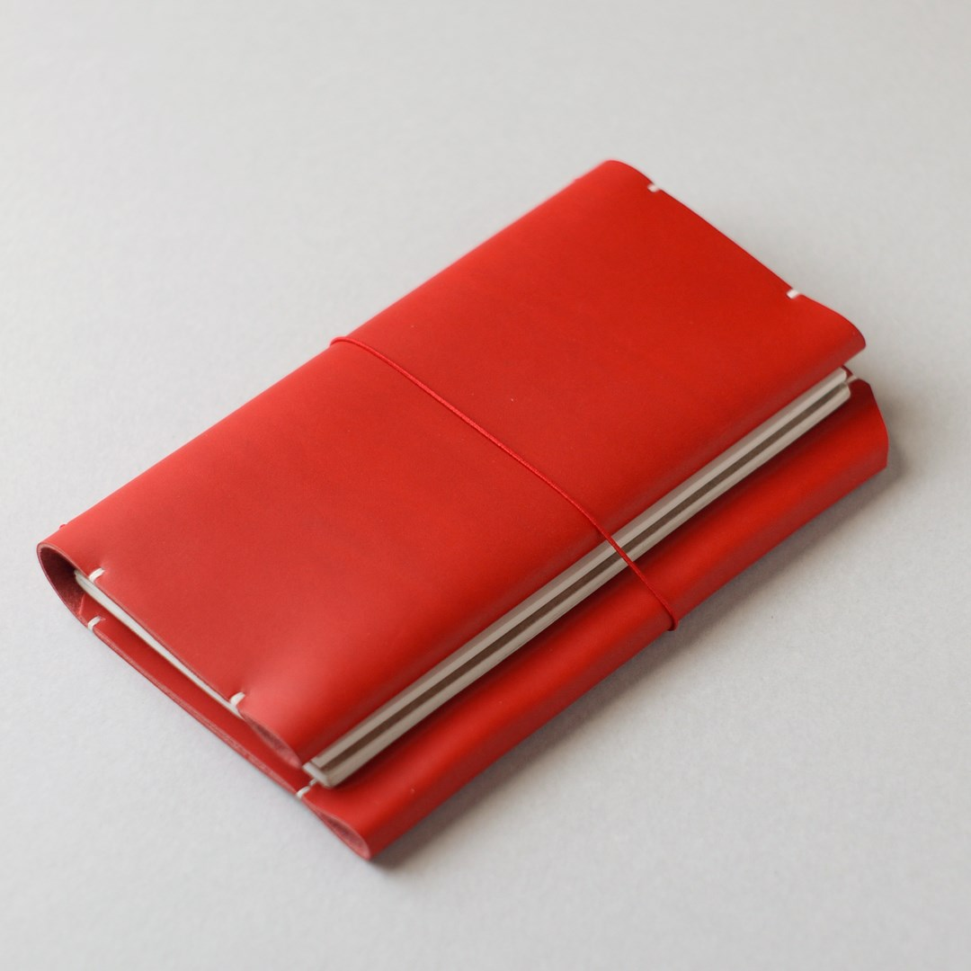 kumosha hand stitched leather travelars note book cover case type 01