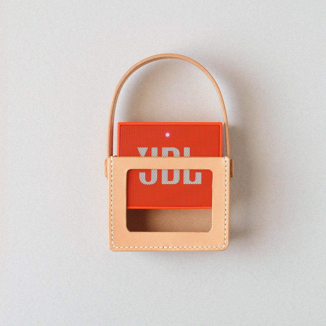 kumosha hand stitched leather JBL GO carrying cover case type 01